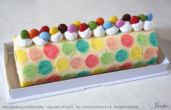水玉ロールケーキ