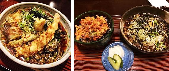 03茶そばと桜海老のかき揚げ丼